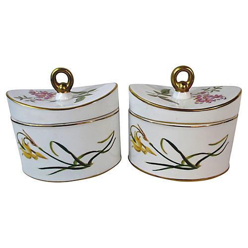 Chelsea House Oval Tea Jars, S/2