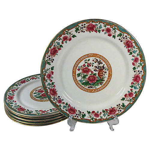 Hammersley Dinner Plates, S/6