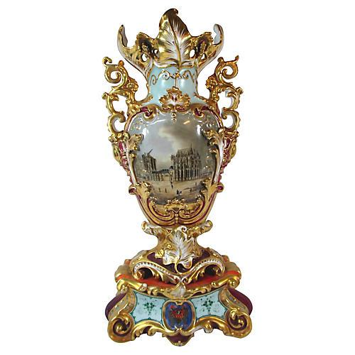 Old Paris Porcelain Vase, C. 1835