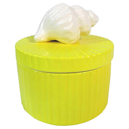 Fitz & Floyd Shell Handle Trinket Box