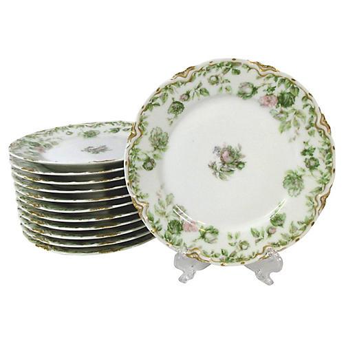 Haviland Dessert Plates, S/12
