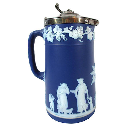 Wedgwood Pitcher w/ Silver-Plate Lid