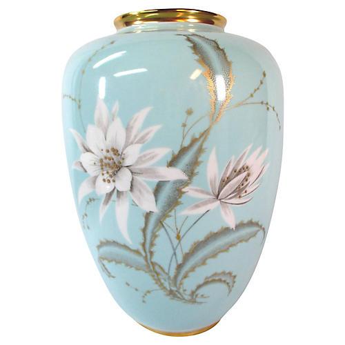 Dresden Pale Blue Floral Vase