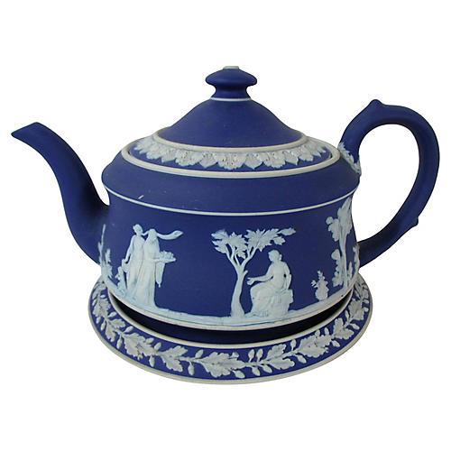 Wedgwood Jasperware Teapot & Tea Stand