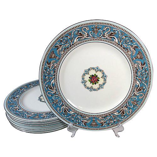 Wedgwood Bone China Dinner Plates, S/8