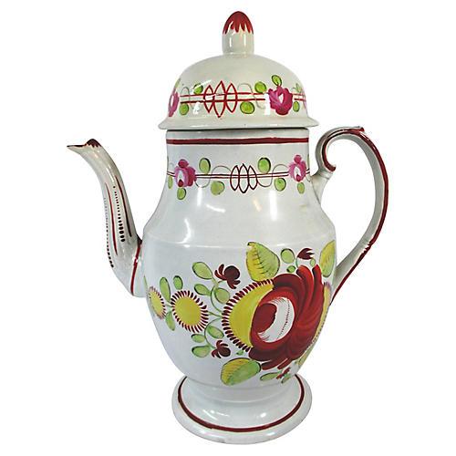 C.1810 Staffordshire Domed Coffeepot