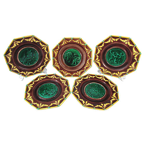 Wedgwood Majolica Serving Set, 5 Pcs