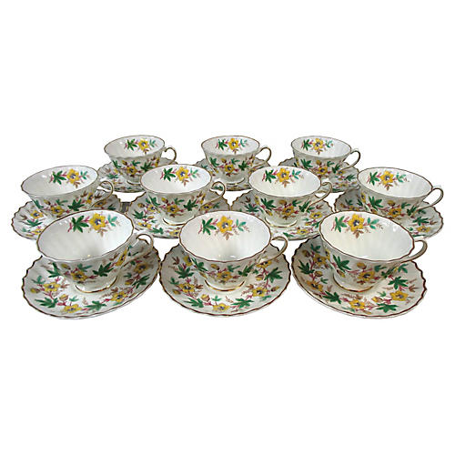 Royal Doulton Cups & Saucers, S/10