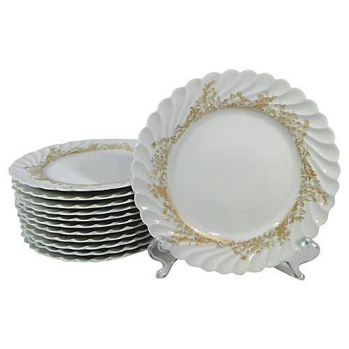 Haviland Limoges Salad Plates, S/12