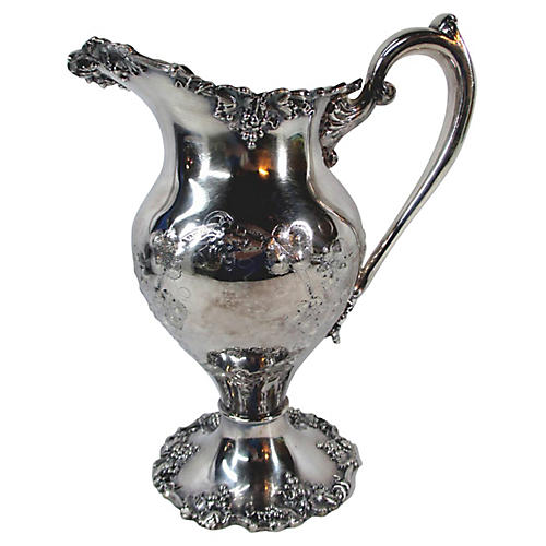 Sheffield Hand-Chased Water Pitcher