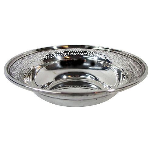 Sterling Silver Pierced Rim Bowl
