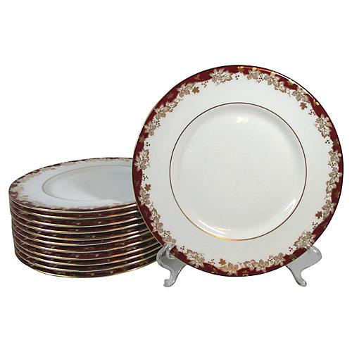 Doulton Rust & Gold Salad Plates, S/12