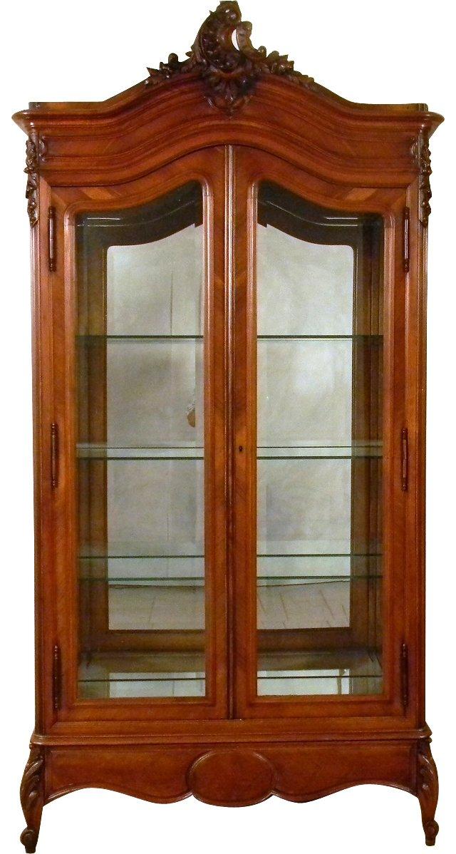 Louis XV-Style 2-Door Cabinet