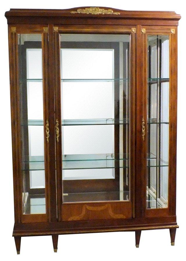 Louis XVI-Style 3-Door Display Case