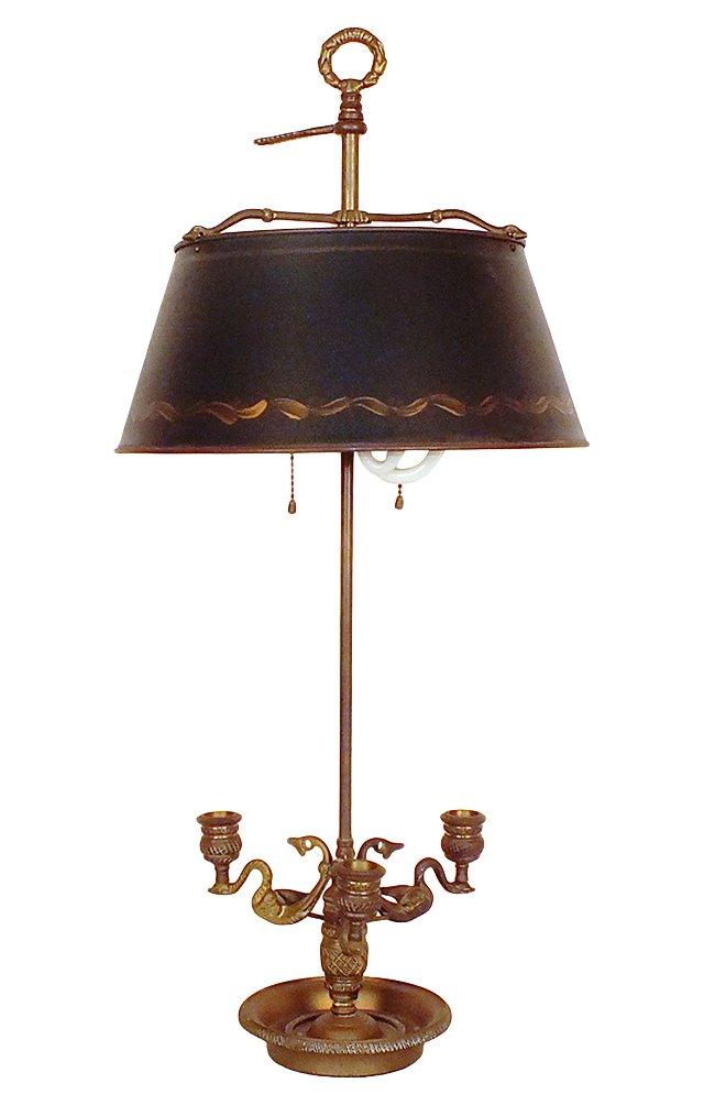 Bouillotte Lamp & Tole Shade