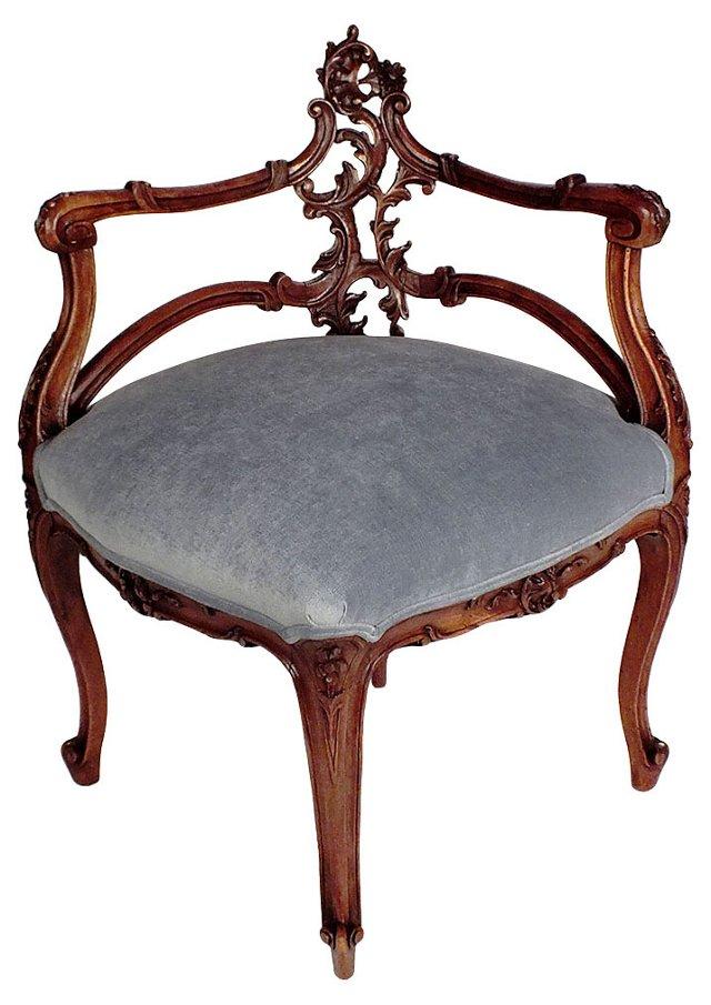 Louis XV-Style Corner   Armchair