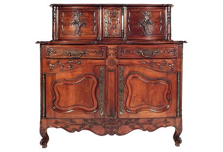 Antique Provençal-Style  Sideboard