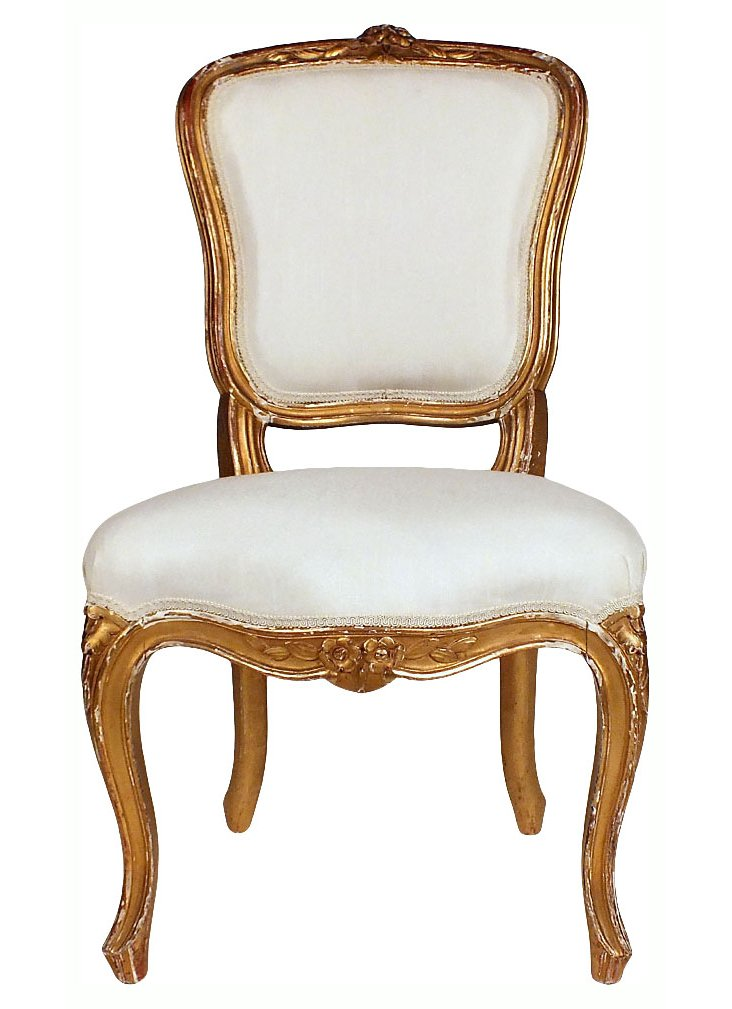 Antique French Giltwood Side    Chair