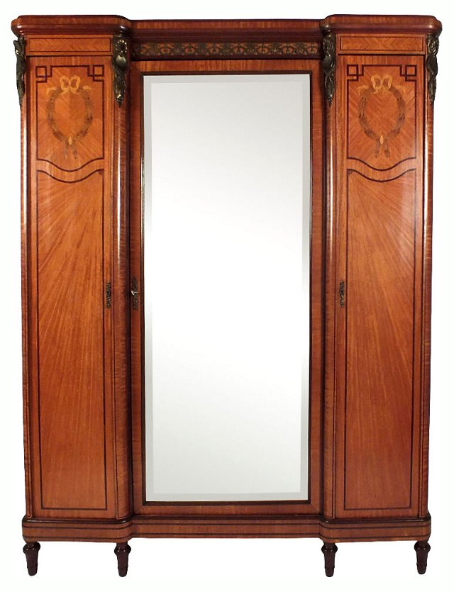 1920s French 3-Door   Armoire
