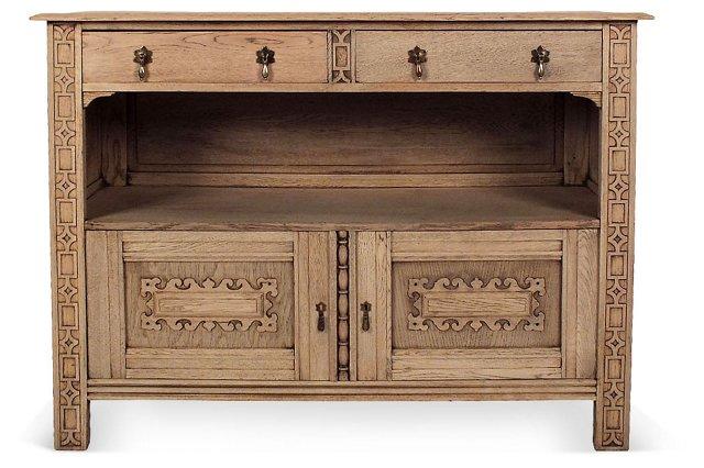 Antique French   Oak Server