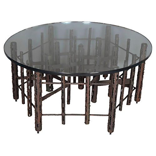 1970s Brutalist-Style Coffee Table