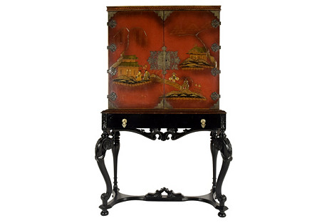 Chinoiserie Dry Bar w/ Stand