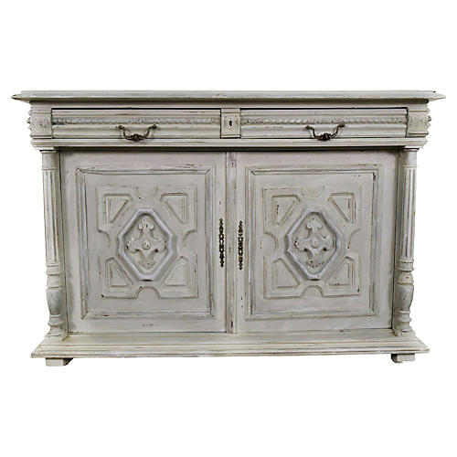 19th-C. French Painted Server
