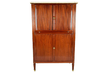 19th-C. French Mahogany Secretaire