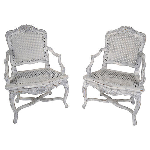 French Louis XV Children's Chairs, Pair