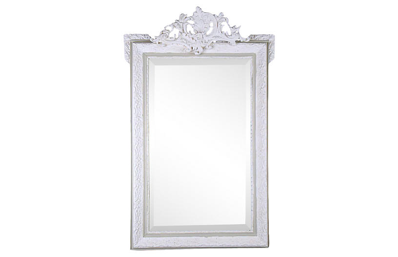 French Late-19th-C Louis XVI Wall Mirror