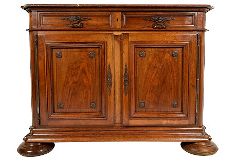 19th C. French Carve Walnut Sideboard