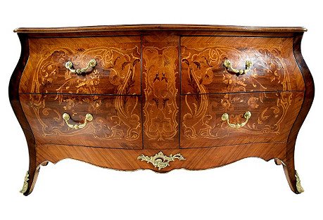 Italian Louis XV Bombé Chest of Drawers