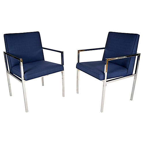 Mid-Century Modern Chairs, Pair
