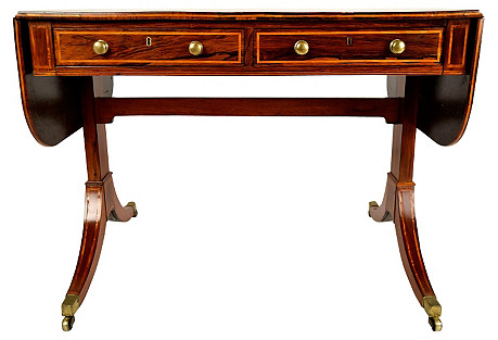 19th-C. English Rosewood Sofa Table