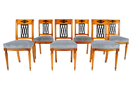 Set of Six Empire-Style Dining Chairs