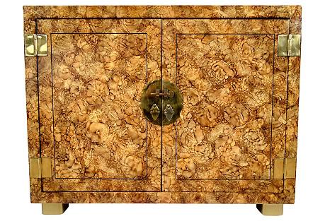 Henredon Faux-Tortoiseshell Cabinet