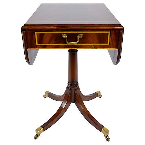 English Pembroke Mahogany Side Table