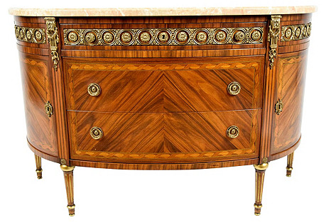 Louis XVI Demilune Chest of Drawers
