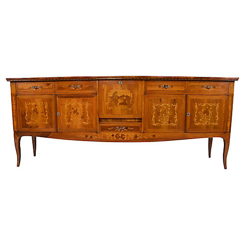 Italian-Style Buffet w/ Marquetry