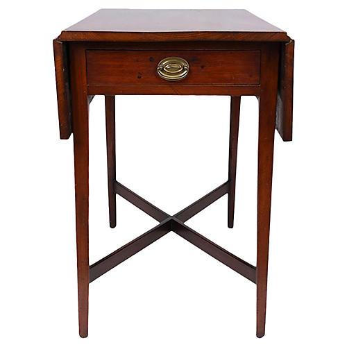 Sheraton Pembroke-Style Table, C. 1900