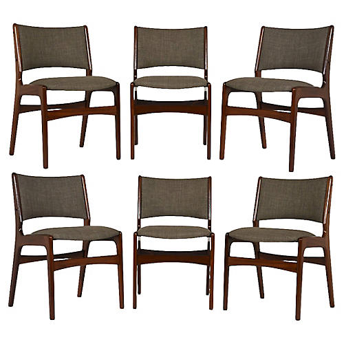 S/6 Mid-Century Modern Dining Chairs