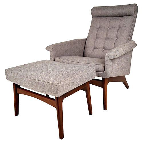 Poul Jensen Lounge Chair W/ Ottoman