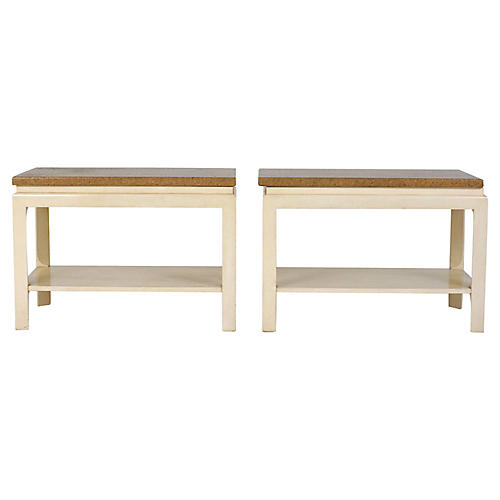 Pair of Modern-Style Side Tables