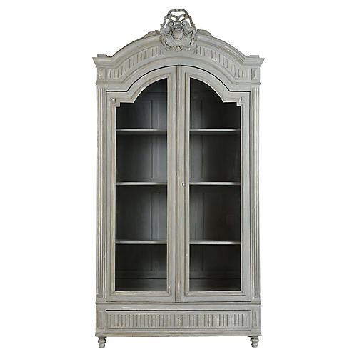 French Louis XVI-style Painted Bookcase