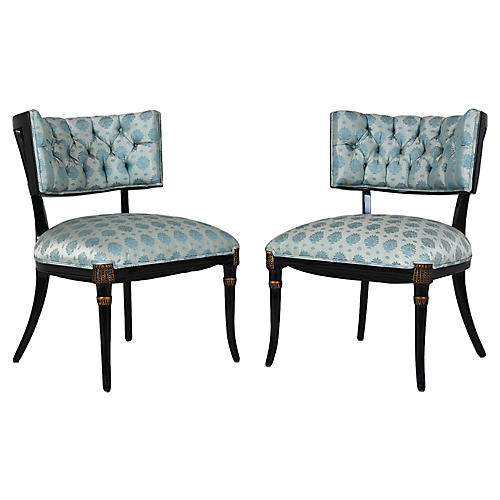Mid-Century Regency-style Lounge Chairs
