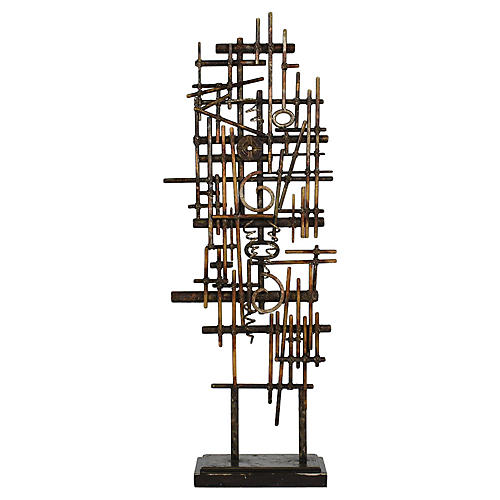 Geometric Standing Sculpture