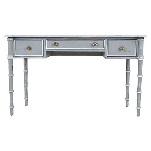 Regency-style Painted & Distressed Desk