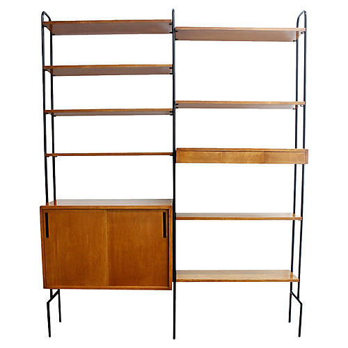 Mid-Century Modern Hairpin Wall Unit