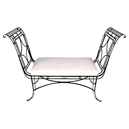 Regency-style Iron Bench