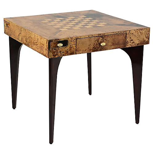 Modern Game Table by Aldo Tura